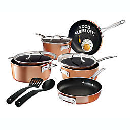 Gotham™ Steel Stackmaster Nonstick Aluminum 10-Piece Cookware Set in Copper/Black