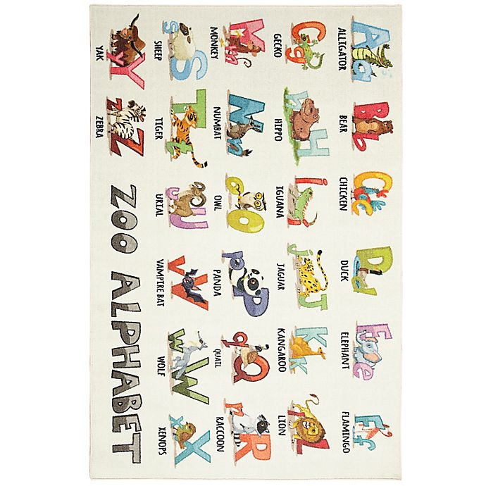 Alternate image 1 for Mohawk Home® Prismatic Alphabet Zoo 3'4\