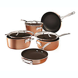 Gotham™ Steel Stackmaster Nonstick Aluminum 8-Piece Cookware Set in Copper/Black