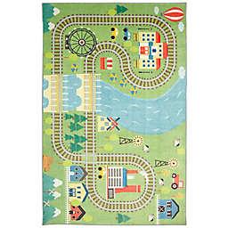 "Mohawk Home® Prismatic Train Track Play 3'4"" x 5' Multicolor Area Rug"