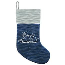 Harvey Lewis™ Happy Hanukkah Stocking in Silver/Blue