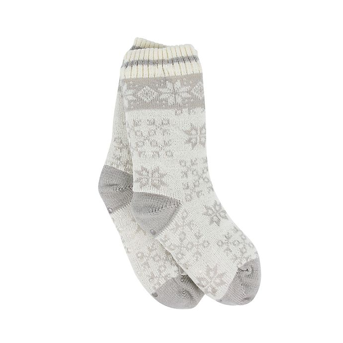 Alternate image 1 for Bee & Willow™ Home Dotted Lounge Socks in Grey