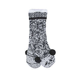 Bee & Willow™ Home Patterned Reading Socks in Black