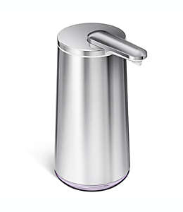 Dispensador de jabón en espuma de acero inoxidable simplehuman® con sensor con acabado cepillado