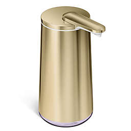 simplehuman® Foam Sensor Pump Soap Dispenser in Brass