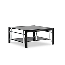 Powell Rubin Glass Coffee Table in Black