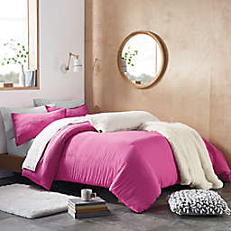 UGG® Devon Solid 2-Piece Twin/Twin XL Duvet Cover Set in Rock Rose