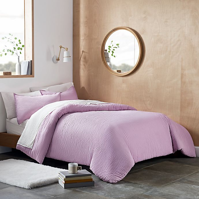 Alternate image 1 for UGG® Devon 3-Piece King Duvet Cover Set in Lavender