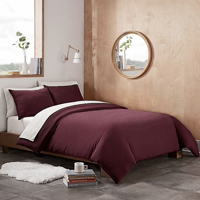 Alternate image 1 for UGG® Devon 3-Piece Full/Queen Duvet Cover Set in Cabernet
