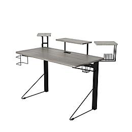 Jamesdar Carnegie Computer Gaming Desk in Grey/Black