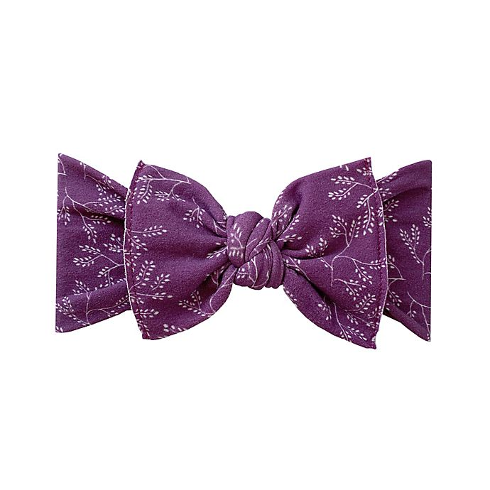 Alternate image 1 for Baby Bling Branch Knot Headband in Eggplant