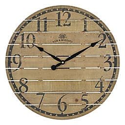 Bee & Willow™ Home 18-Inch Round Wall Clock in Walnut