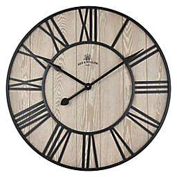 Bee & Willow™ Home 32-Inch Round Wall Clock in Walnut