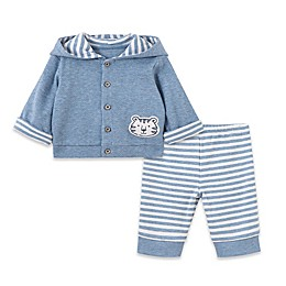Little Me® 3-Piece Take Me Home Tiger Jacket, Bodysuit, and Pants Set in Blue