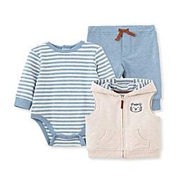 Little Me® 3-Piece Tiger Bodysuit, Pants, and Vest Set in Blue