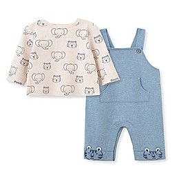 Little Me® 2-Piece Animals Shirt and Overall Set in Blue