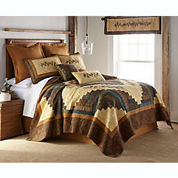 Donna Sharp® Cabin Raising Pinecone Quilt in Beige