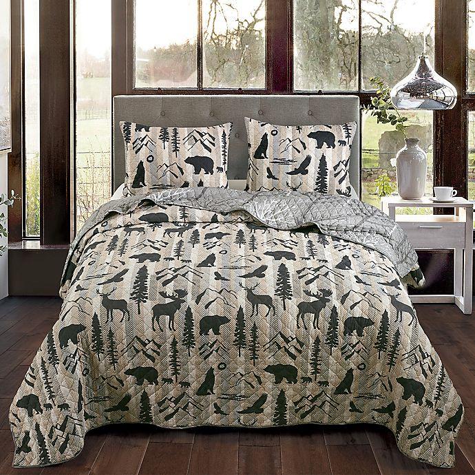 Alternate image 1 for Donna Sharp® Forest Weave 3-Piece Reversible Quilt Set