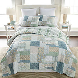 Donna Sharp Tidepool 3-Piece Reversible Quilt Set