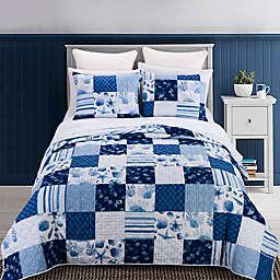 Donna Sharp® Watercolor Shells 3-Piece Reversible Quilt Set