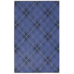 "Mohawk Home Russell Plaid 2' x 3'4"" Accent Rug in Medium Blue"