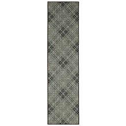 Mohawk Home Russell Plaid 2' x 5' Runner Light Grey