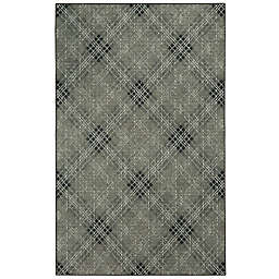 Mohawk Home Russell Plaid 8' x 10' Area Rug in Light Grey