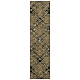 Mohawk Home Russell Plaid 2' x 5' Runner in Brown