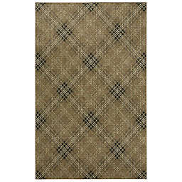 Mohawk Home Russell Plaid 2' x 3' Accent Rug in Brown