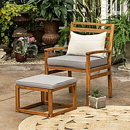 Forest Gate™ Patio Wood Chair and Ottoman