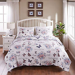 Barefoot Bungalow Garden Joy 2-Piece Quilt Set in White