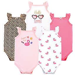 Hudson Baby® Size 6-9M 5-Pack Summer Fun Sleeveless Bodysuits
