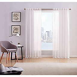 Style 212® 2-Pack 84-Inch Rod Pocket Window Curtain Panels in White