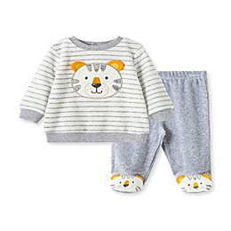 Little Me® 2-Piece Tiger Shirt and Pant Set in Grey