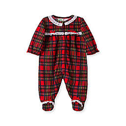 Little Me® Girl's Plaid Footie Pajamas