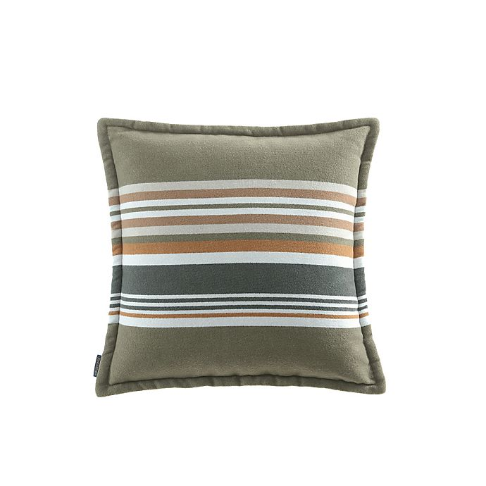 Alternate image 1 for Pendleton® Sanford Striped Square Throw Pillow in Capers
