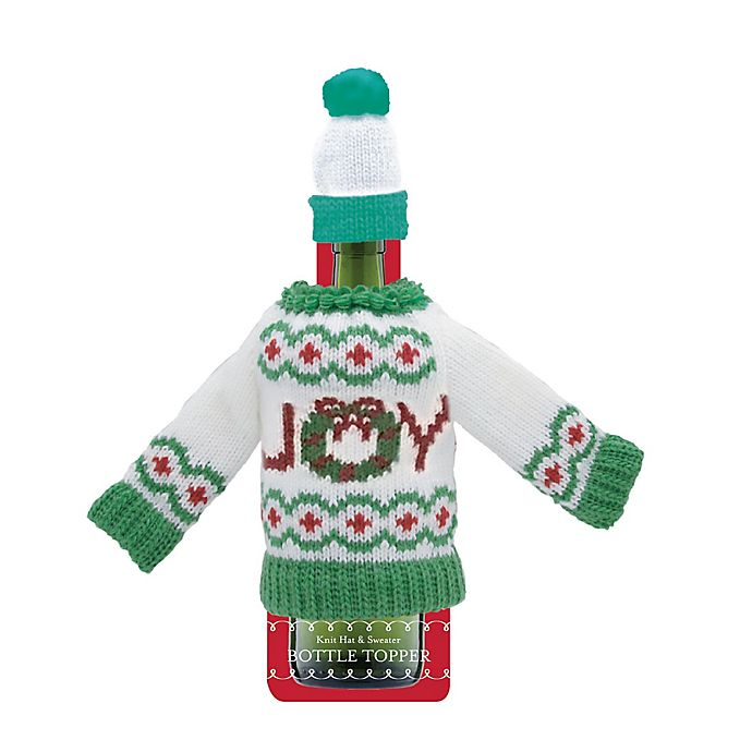 Alternate image 1 for Joy Knit Sweater and Hat Bottle Cover Set