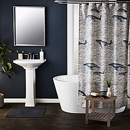 Whale Waves Shower Curtain