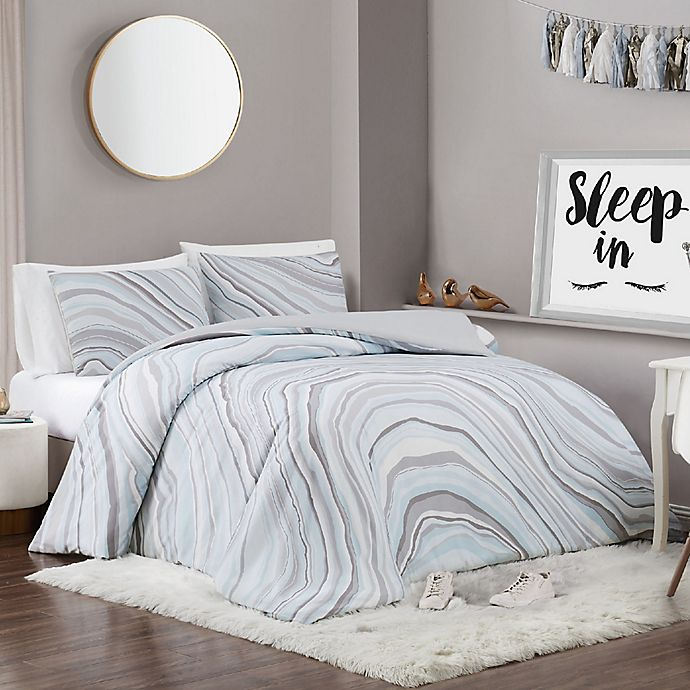 Alternate image 1 for Vince Camuto® Valero 2-Piece Twin XL Duvet Set
