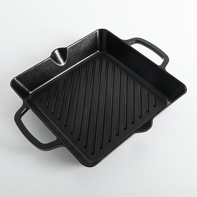 Alternate image 1 for Artisanal Kitchen Supply® Nonstick 10-Inch Cast Iron Grill Pan
