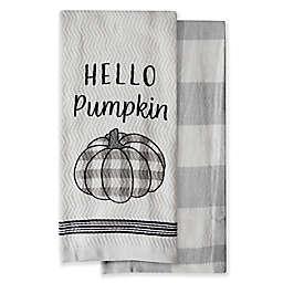 Harvest Hello Pumpkin Kitchen Towels (Set of 2)