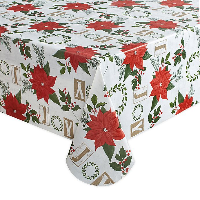 Alternate image 1 for Holiday Joy Wreath Tablecloth
