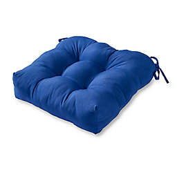 Greendale Home Fashions Solid Square Outdoor Chair Cushion in Blue