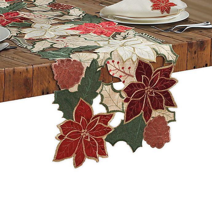 Alternate image 1 for Woodland Poinsettia Table Runner