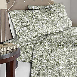 Pointehaven Boho Paisley 200-Thread-Count Twin XL Sheet Set