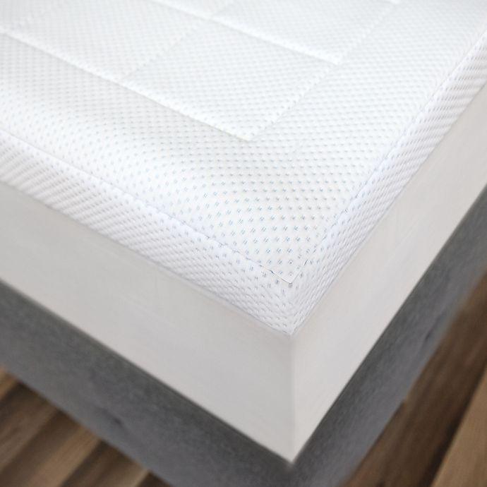 Alternate image 1 for SensorPEDIC 3-Zone Memory Foam Full Mattress Topper