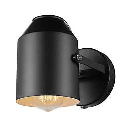 Globe Electric Greyson 1-Light Plug-In Wall Light in Matte Black
