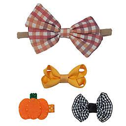 So' Dorable 4-Pack Harvest Hair Set in Pumpkin