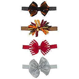 Elly & Emmy Newborn 4-Pack Holiday Headwraps