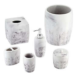 Marble Bath Accessory Collection in Grey